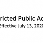 Restricted Public Access - Effective July 13, 2020