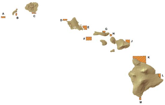 Map of bottomfish restricted fishing areas