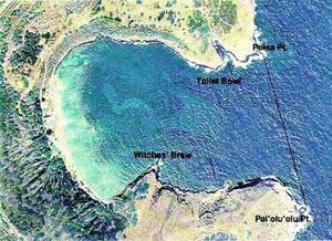 Aerial view of Hanauma bay