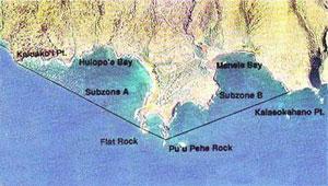Aerial view of Hanauma bay Manele-Hulopo'e Bay