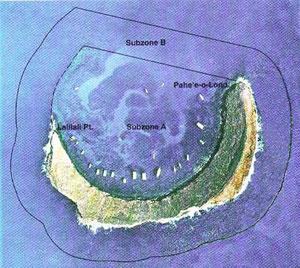 Aerial view of Molokini area