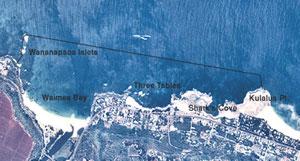 Aerial view of pupukea region.