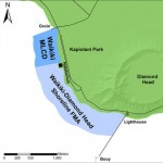 Map of Waikiki-Diamond Head Shoreline Fisheries Management Area