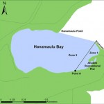 Map of Hanamaulu Bay and Ahukini Recreational Pier
