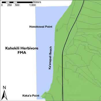 Map of Kahekili Herbivore Fishery Management Area