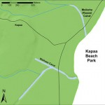 Map of Kapaa and Waikaea Canals