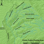 Map of Kokee Public Fishing Area