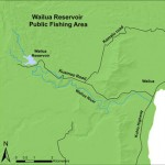 Map of Wailua Reservoir Public Fishing Area