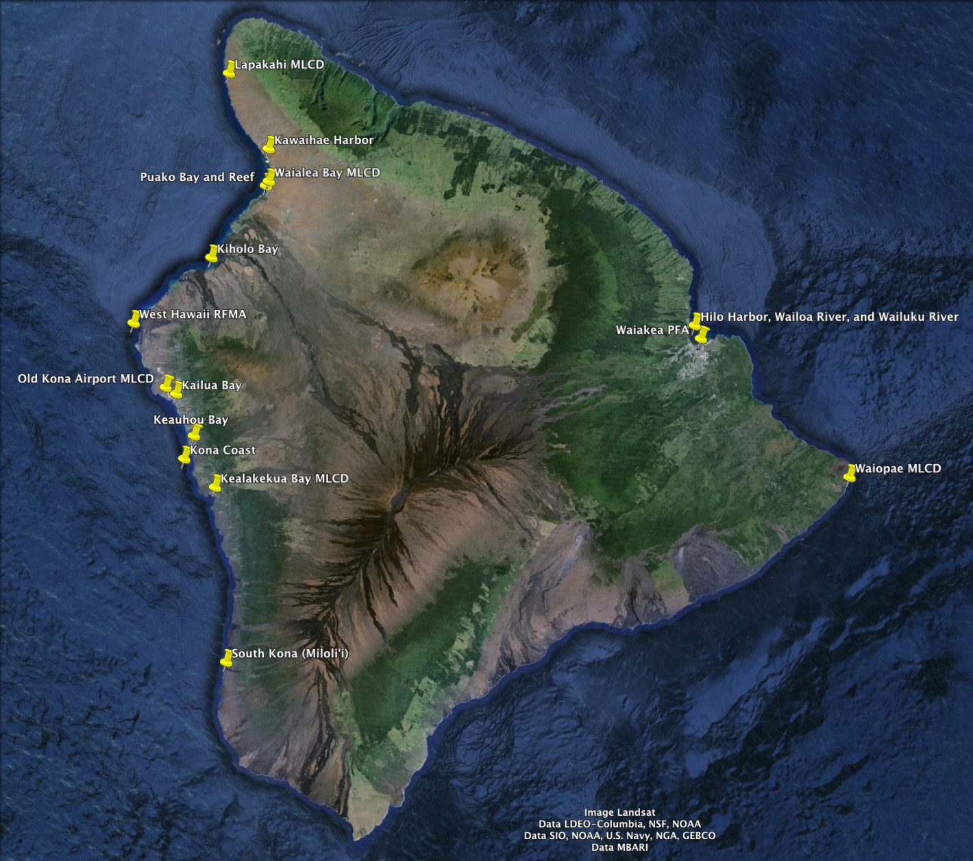 Freshwater fish in hawaii - Regulated Fishing Areas On Hawai I Island