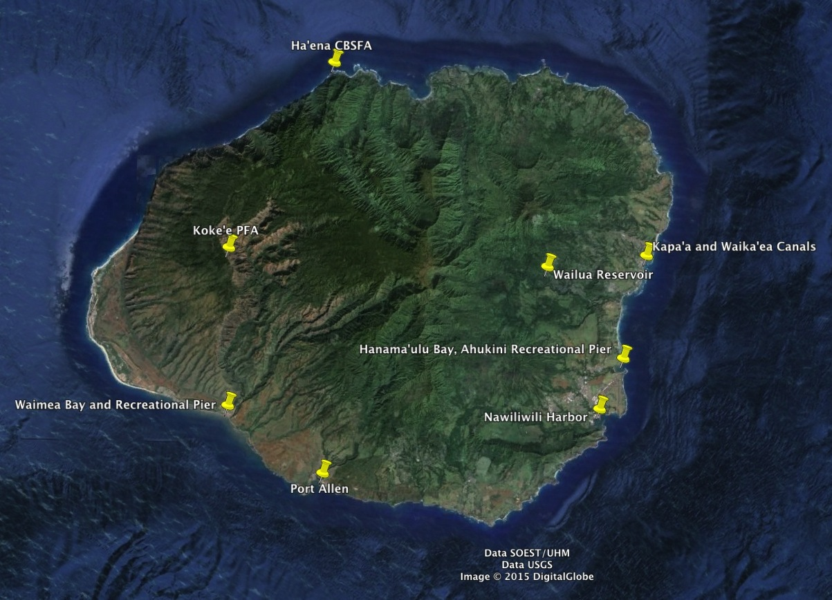 Division of aquatic resources regulated fishing areas on for Fly fishing kauai