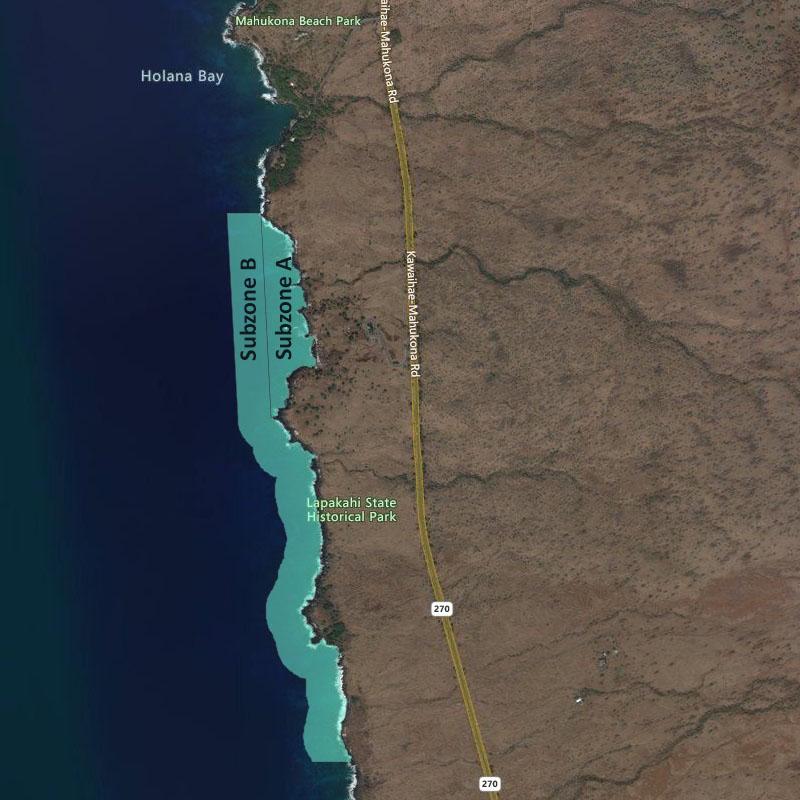 Map of Lapakahi MLCD