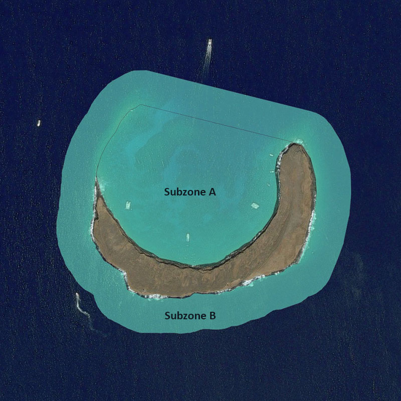 Map of Molokini Shoal MLCD
