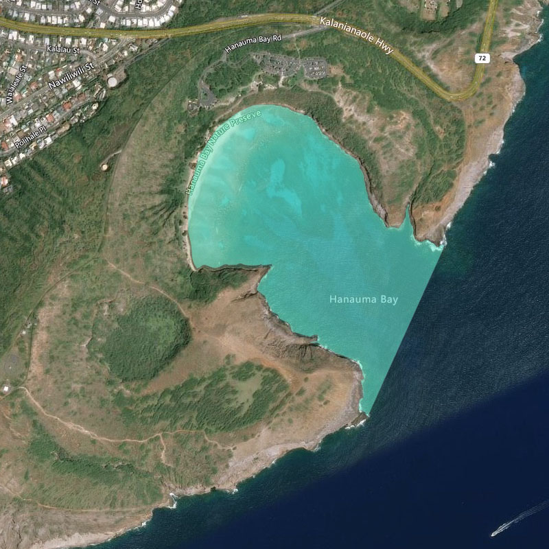 Map of Hanauma Bay MLCD