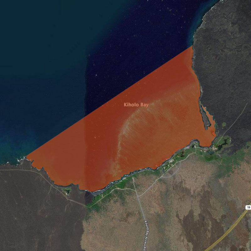 Map of Kiholo Bay