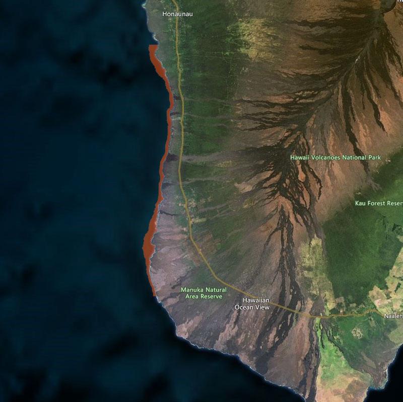 Map of South Kona