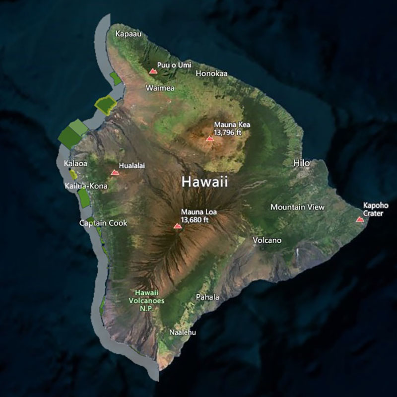 Map of West Hawaii Regional FMA