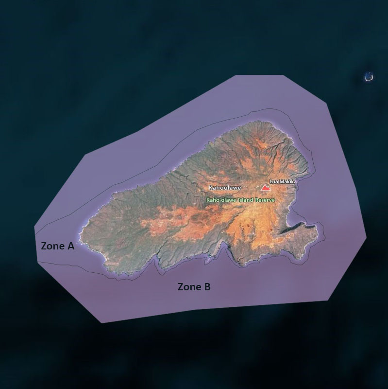 Map of Kaho'olawe Island Reserve