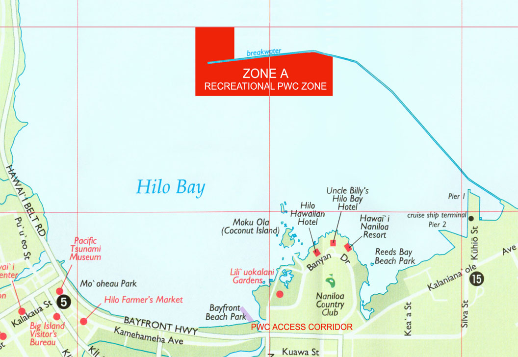 Kaneohe Bay Hawaii Map.Division Of Boating And Ocean Recreation Personal Water Craft