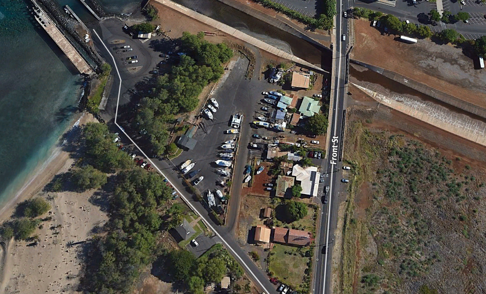 General vicinity of property to be leased through auction