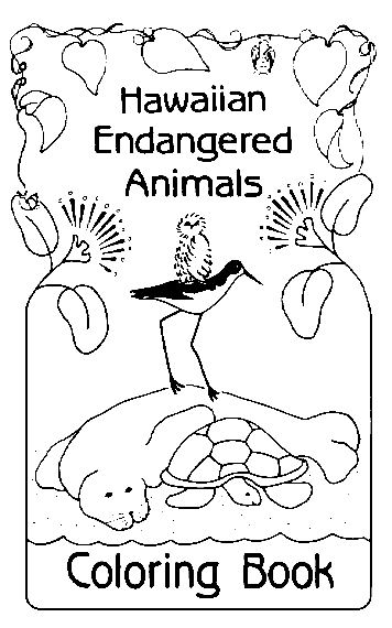 Coloring pages of animals endangered plants driverlayer for Endangered species coloring pages