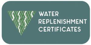 A graphic regarding water replenishment certificates