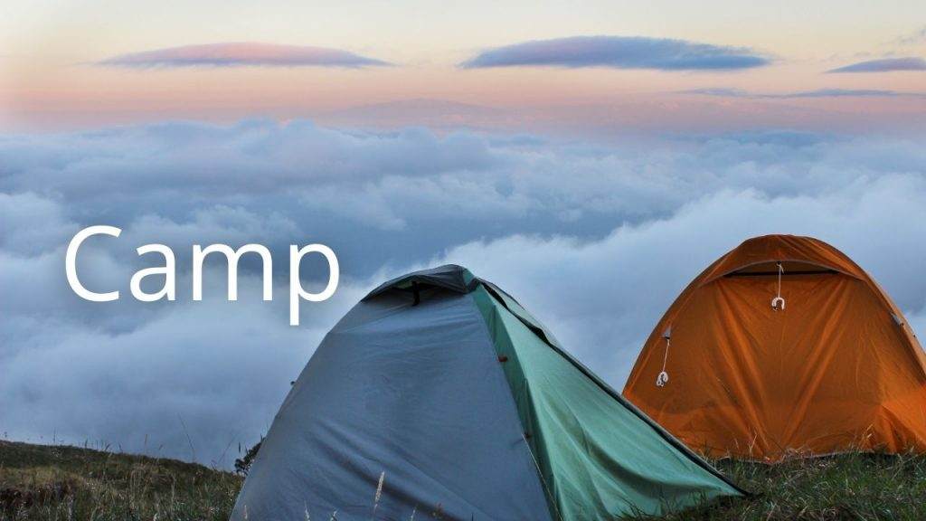 An image of tents linking to a page on camping