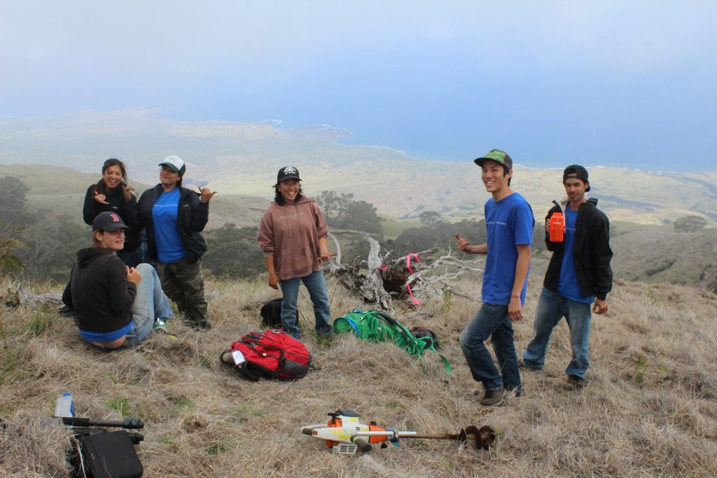 An image of people at a field site