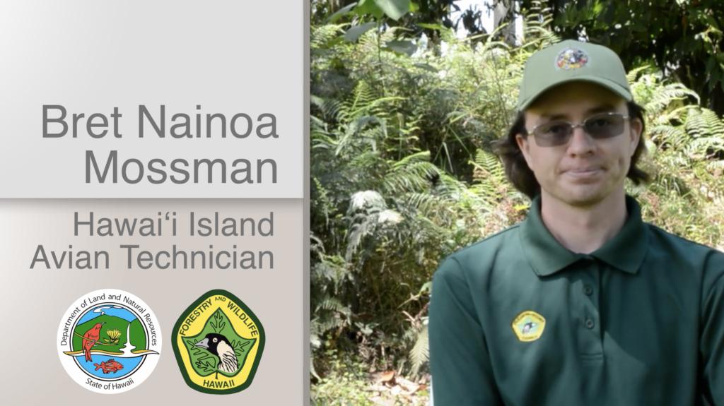 A thumbnail for the video Bret Nainoa Mossman Hawaiʻi Island Avian Technician