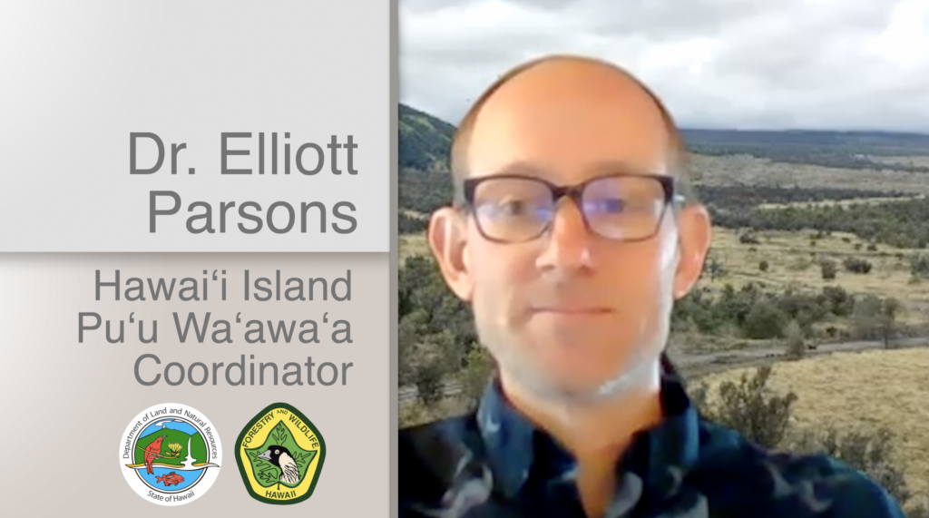 A Thumbnail for the video Dr. Elliott Parsons Hawaiʻi Island Puʻu Waʻawaʻa Coordinator