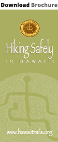 download safe hiking in Hawaii brochure
