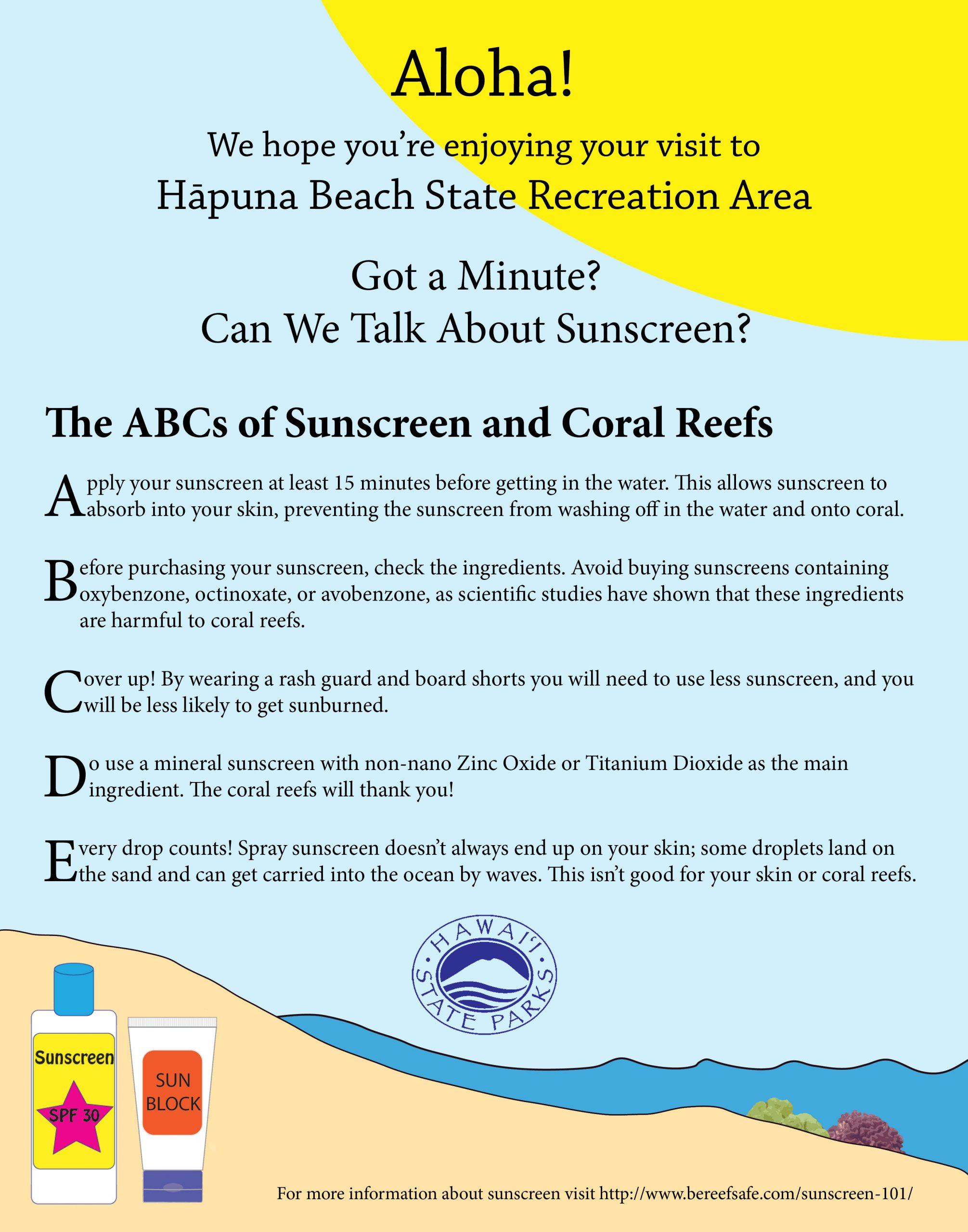 Hapuna Sunscreen Poster1