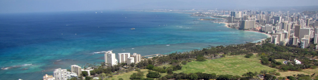 Shoreline view of waikiki
