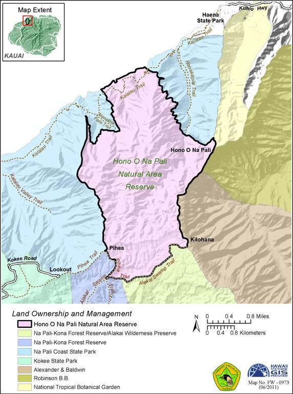 Hono O Na Pali Map