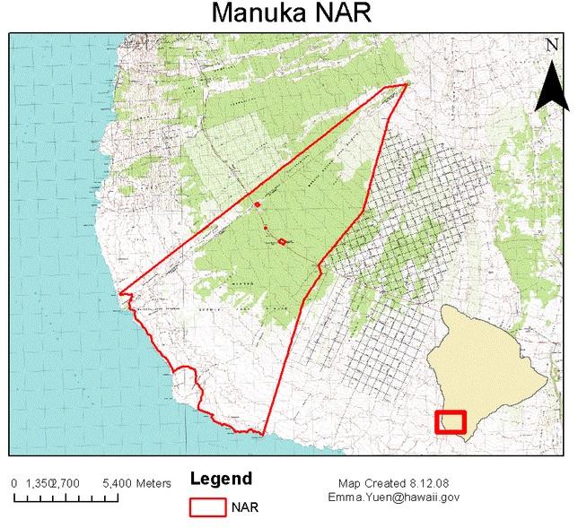 Manuka NAR map