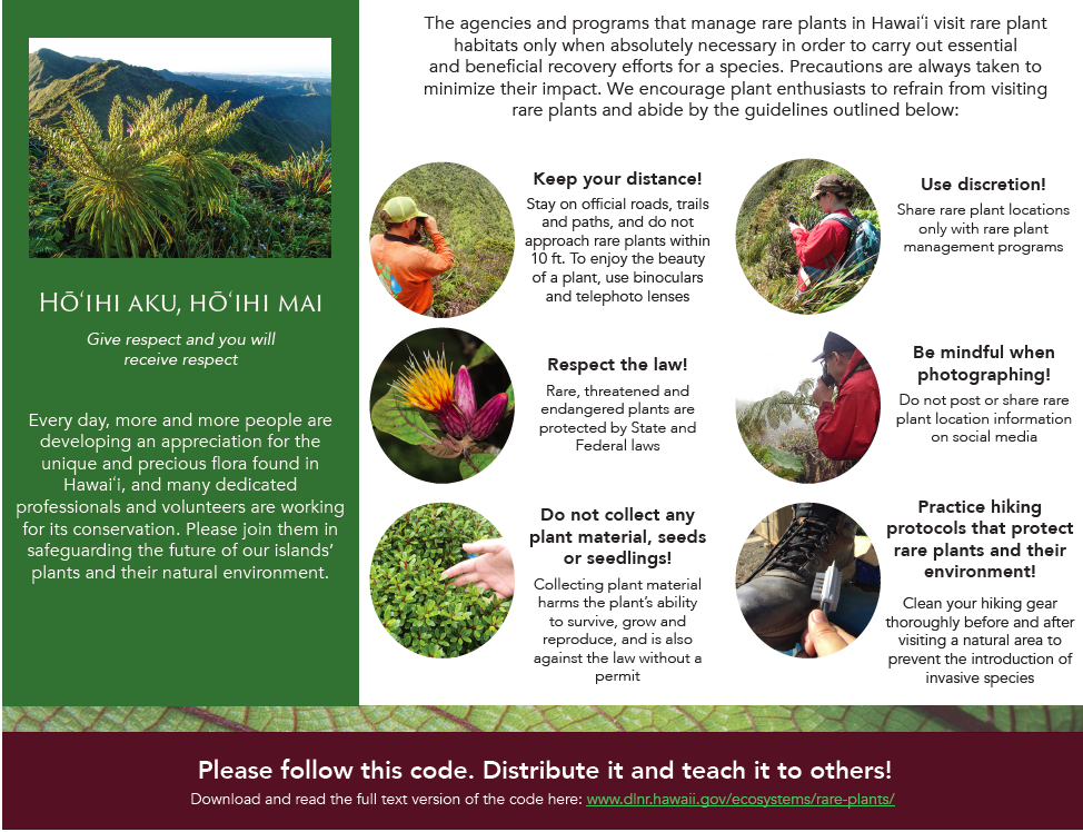 Hawaii Rare Plant Code of Conduct