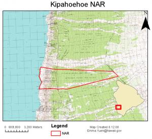 Kipahoehoe NAR Map