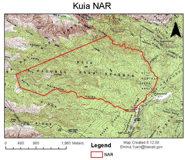 Kuia NAR map