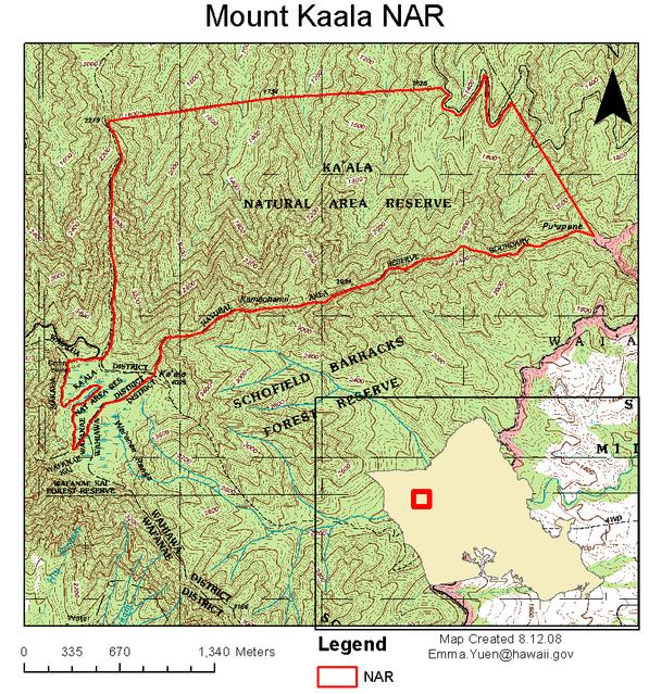 Mount Kaala NAR map