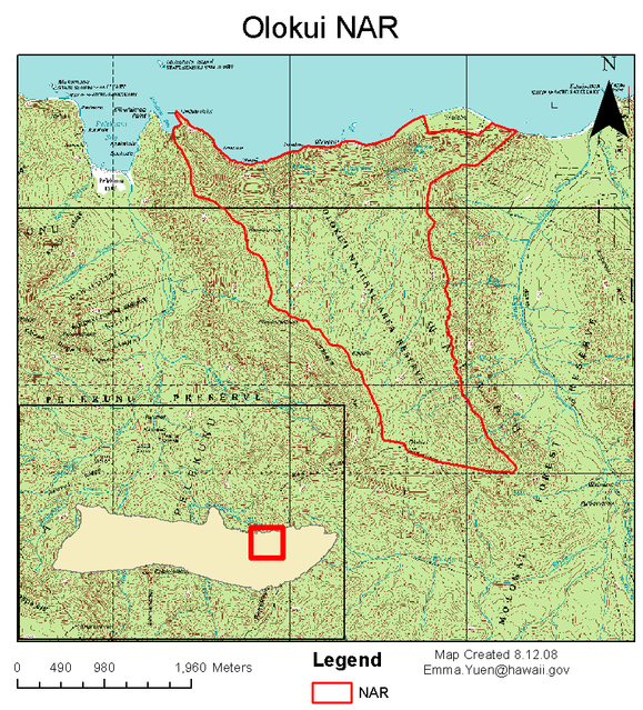 Olokui NAR map