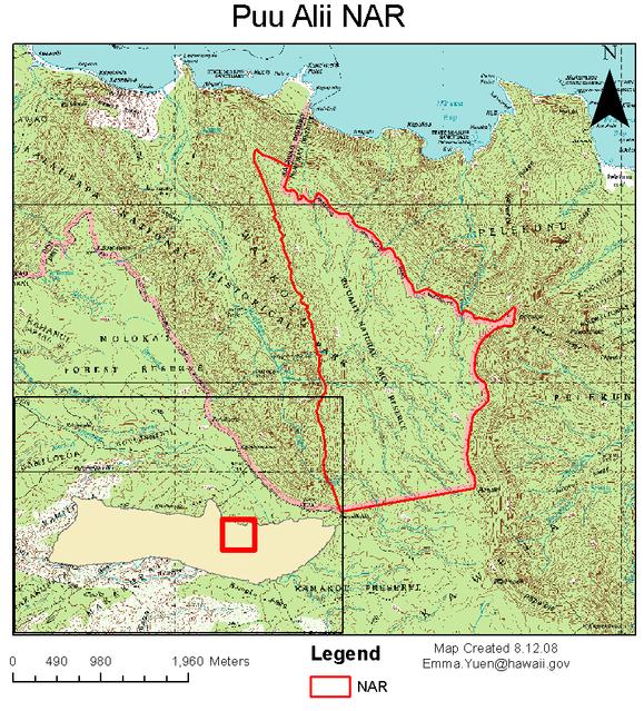 Puu Alii NAR map