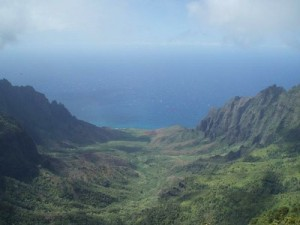 view of Kalalau from Hono o Na Pali NAR Extension