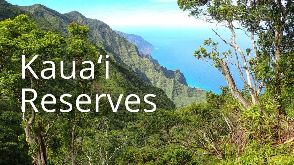 An image of Kauaʻi's north shore linking to Kauaʻi reserves