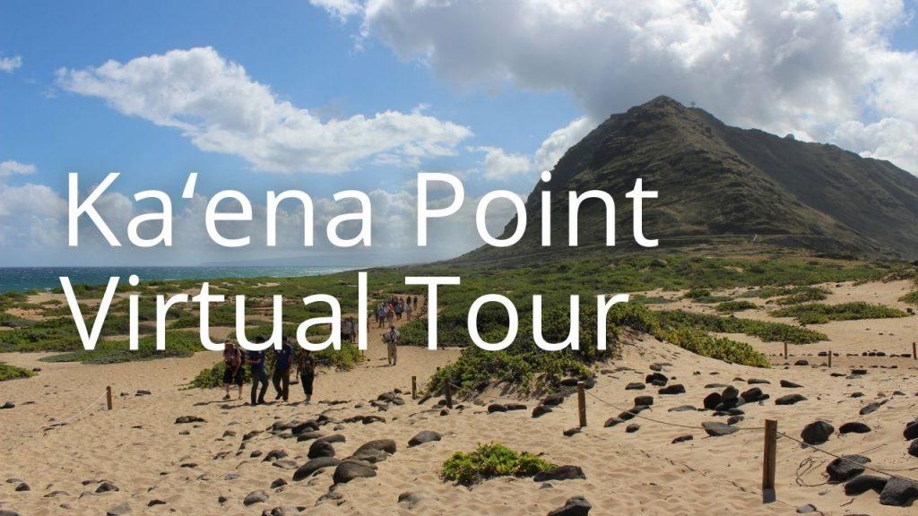 An image of Kaʻena Point linking to a virtual tour