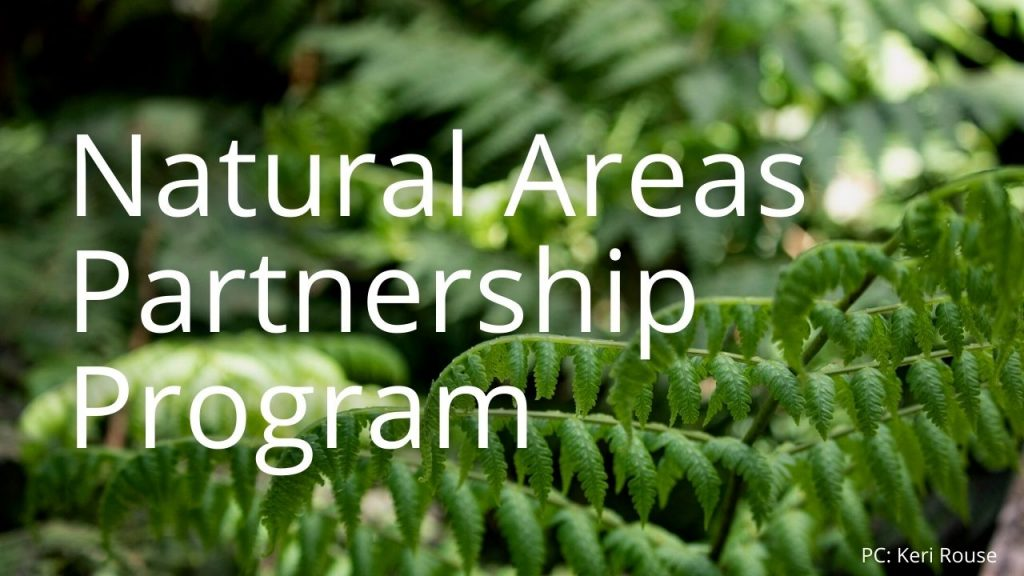 An image of a plant linking to a page called Natural Areas Partnership Program