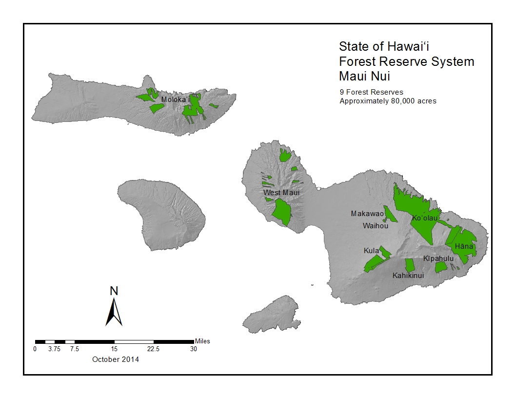 Forestry Programs Maui Nui Forest Reserves