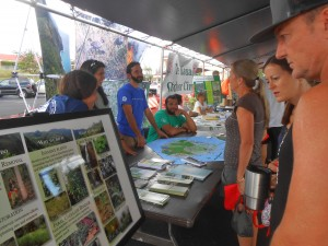 Kauai DLNR, DOFAW, NARS representatives talk to the public about their work protecting water, native plants, resources, and biodiversity.