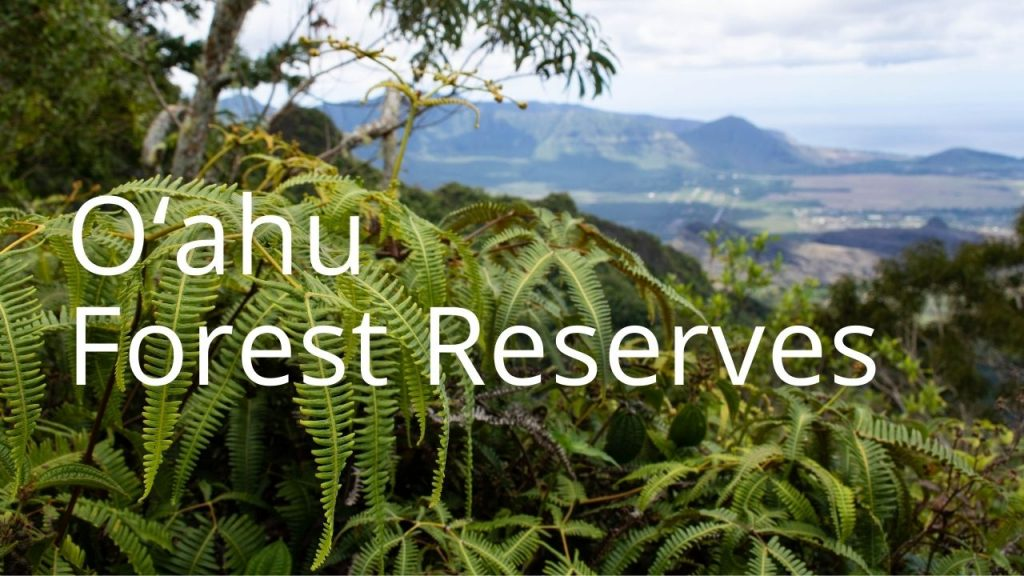 An image and button related to Oahu Forest Reserves