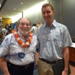Governor Neil Abercrombie with DLNR Invasive Species Coordinator Josh Atwood