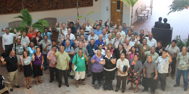 Participants in the final workshop for the RBP join at the University of Guam in May, 2014.