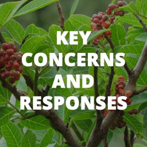 Button to key concerns and responses